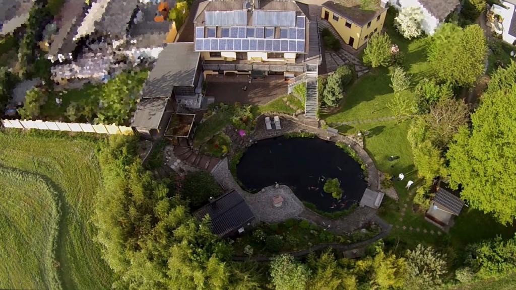 Luftbild des Multikopters