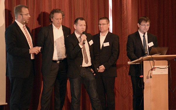 Lars Loppe, Patrick Heinrichs und Maklerkollegen auf dem Meeting 2014