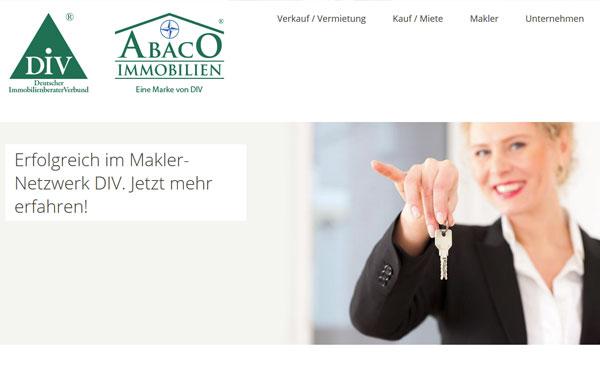 Homepage vom Deutschen Immobilienberater Verbunds