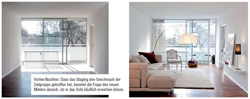 Home Staging für Vermieter - Beispiel