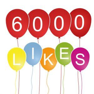 Hurra, 6.000 Likes!