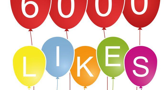 Hurra, 6.000 Likes