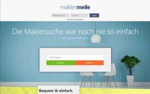 Das Online-Portal maklermeile.de