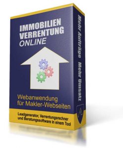"""""""IMMOBILIEN-VERRENTUNG ONLINE"""" Mit der Webanwendung für Makler-Webseiten wird Verrentung jetzt einfach."""